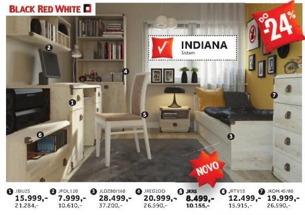 Krevt Jloz80/160 Indiana Black Red White