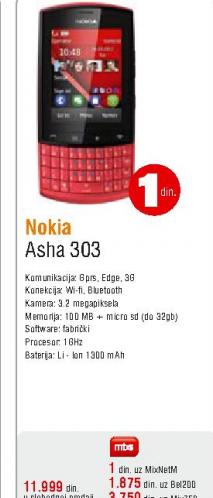 Mobilni telefon Asha 303