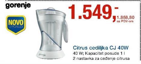 Cediljka Za Citruse CJ 40W