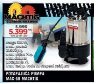 Potapajuća Pumpa MAC - 50
