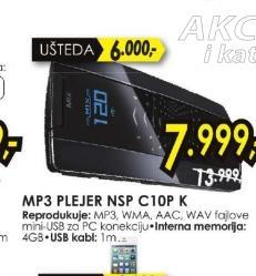 Mp3 plejer NSP-C10P-K