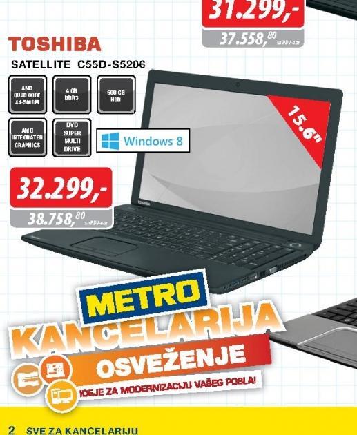 Laptop satellite C55D-S5206