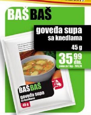 Supa goveđa sa knedlama