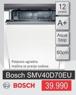 Mašina za pranje sudova Smv40d70eu