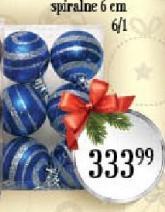 Novogodišnji ukras kugle spiralne