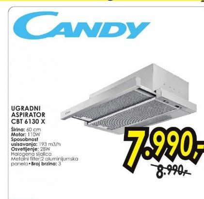 Ugradni aspirator CBT 6130 X