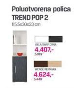 Poluotvorena Polica Trend TREND POP2, wenge, ferrara