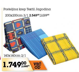 Posteljina krep, Tekstil Jagodina
