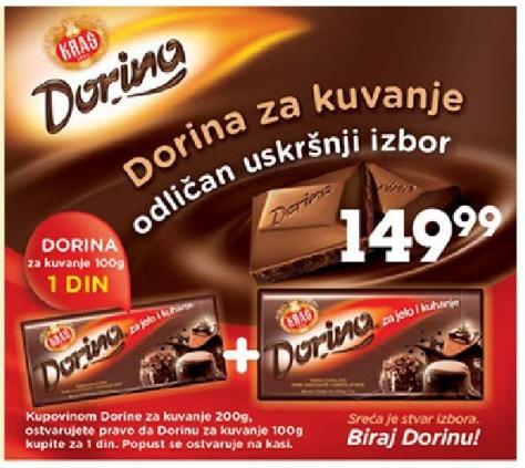 Dorina čokolada za 1 dinar!