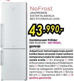 Kombinovani frižider Nrk 61jsy2w