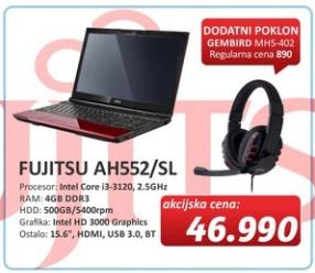 Laptop AH552/SL + poklon Gamebird MHS402 slušalice