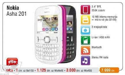 Mobilni telefon Asha 201