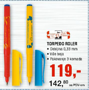 Hemijska olovka Torpedo Roler - Koh-I-Nor