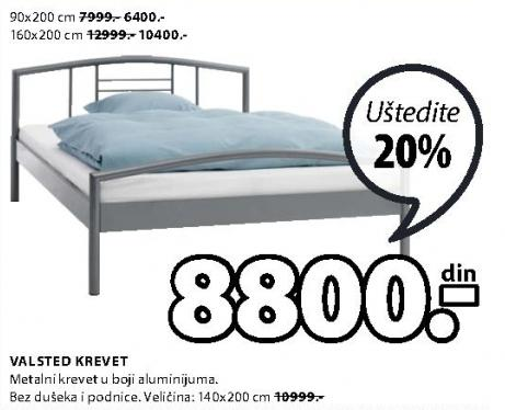 Krevet Valsted 140x200cm