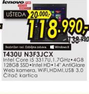 Laptop ThinkPad T430U N3F3JCX