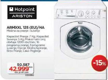 Hotpoint Mašina Za Pranje I Sušenje Veša ARMXXL 125 EU/HA Hotpoint