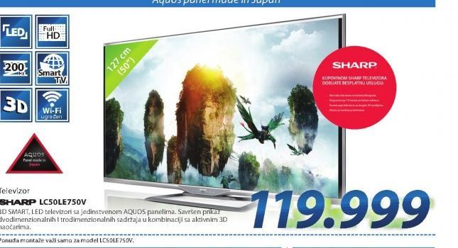 LED Televizor LC50LE750V