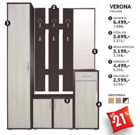 Element predsoblja Vešalica Verona