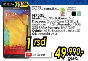 Mobilni telefon Galaxy Note 3 Neo N7505