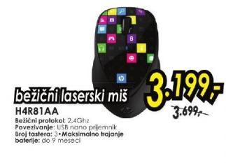 Bežični laserski miš H4R81AA