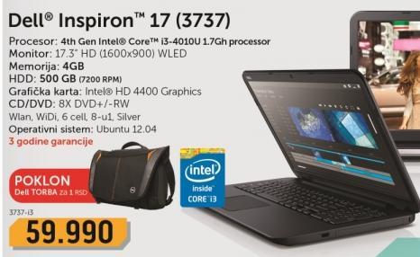 Laptop Inspiron 17 3737-i3