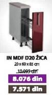 Kuhinjski element IN MDF D20 žica bordo sjaj