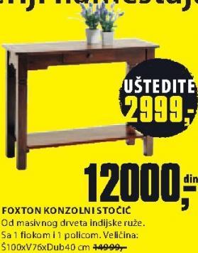 Konzolni stočić Foxton