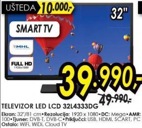 """Televizor LED 32"""" 32l4333dg"""