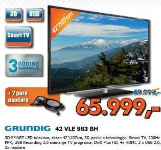 Televizor 3D LED 42VLE983BH