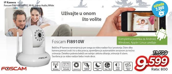 IP kamera Fi8910w Foscam