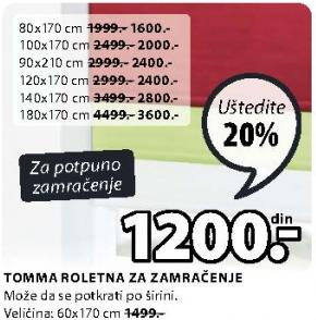 Roletna tomma 90x210cm