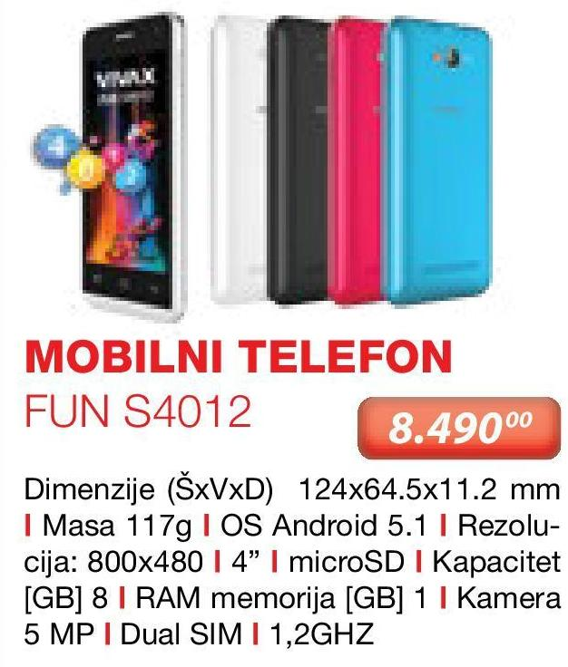 Mobilni telefon FUN S4012