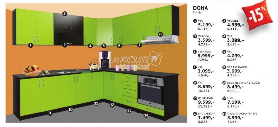 Kuhinjski element V80/36s Dona