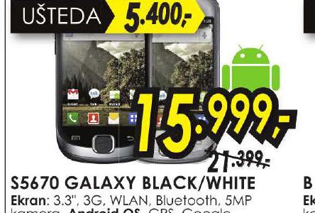 Mobilni Telefon S5670 GALAXY BLACK/WHITE