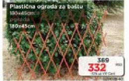 Plastična ograda za baštu