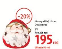 Ukras za jelku Deda Mraz