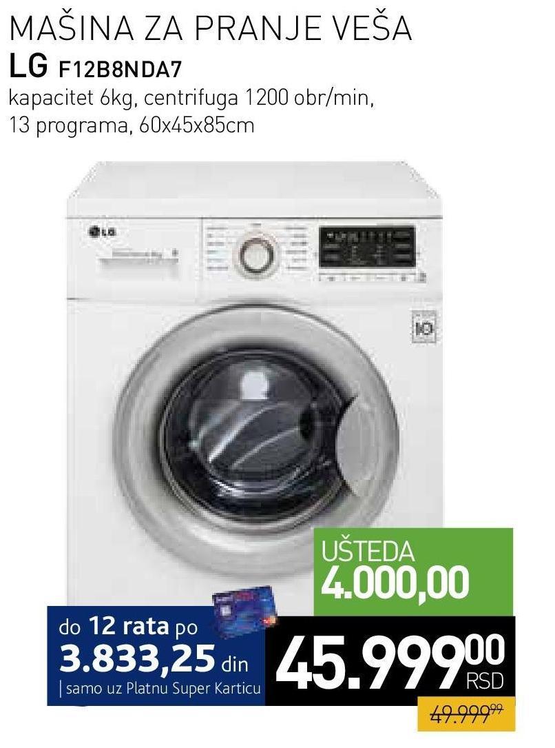 Mašina za pranje veša F12B8NDA7