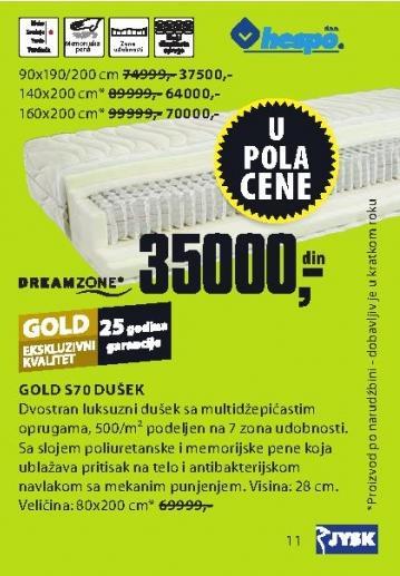 Dušek Gold S70 160x200