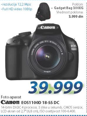 Fotoaparat Eos1100D 18-55 DC
