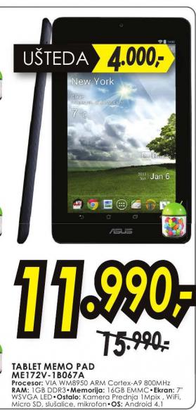 Tablet  ME172V-1B067A