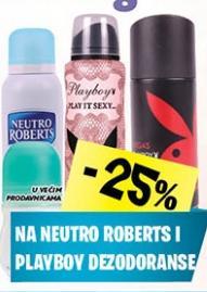 Neutro robert i Playboy dezodorans