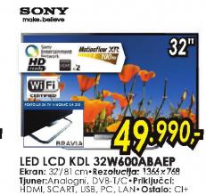 Televizor LED LCD KDL32W600