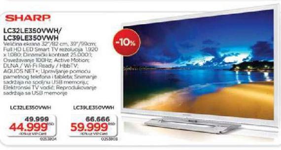 Televizor LED LC39LE350VWH
