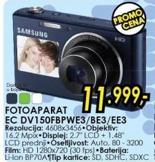 Digitalni fotoaparat Ec Dv150fbpwe3/be3/ee3