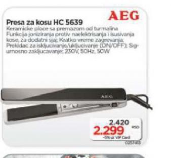 Presa za kosu HC 5639 C