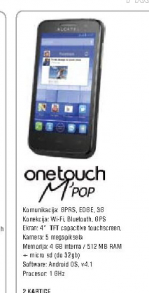 Telefon mobilni One Touch M'POP