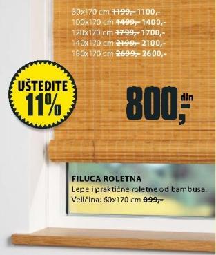 Roletna Filuca 180x170cm