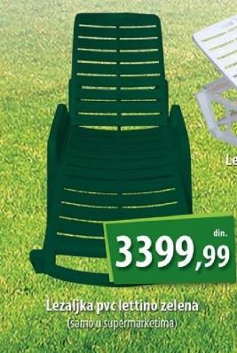 Ležaljka pvc lettino zelena