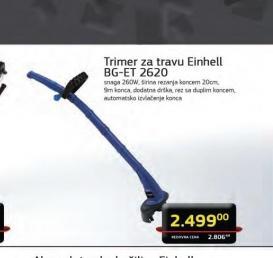 Električni trimer za travu BG-ET 2620