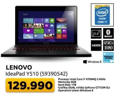 Laptop IdeaPad Y510 59390542